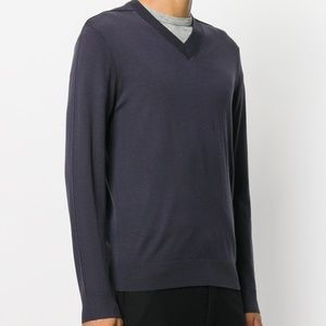 Pringle of Scotland V-Neck Mens Wool Sweater